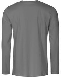 Promodoro T-shirt manches longues col V Hommes T-shirt - Gris