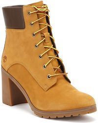 Timberland - Womens Wheat Yellow Allington 6 Inch Boots Women's Mid Boots In Brown - Lyst