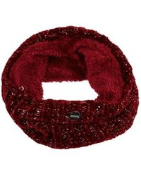 Regatta Harleth Ii Fleece Lined Snood Red Scarf