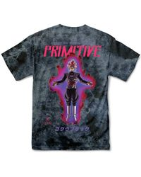 Primitive T-shirt goku - Negro