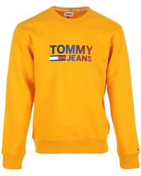 Tommy Hilfiger Jersey Ombre Corp Logo Crew - Naranja