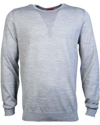 BOSS Black - Knitwear Jumper San Lorenzo 50323597 Men's Sweater In Grey - Lyst