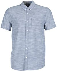 Volcom - Evrett Oxford Men's Short Sleeved Shirt In Blue - Lyst