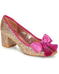 Miss L Fire - Sabrina Women's Court Shoes In Gold - Lyst