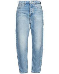 Tommy Hilfiger Jeans MOM JEAN ULTRA HR TPRD EMF SPLBR - Azul