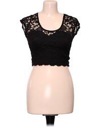 Miss Selfridge Top manches courtes - Taille 34 Blouses - Noir