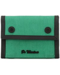 Dr. Martens - Dr. Martens Green Fine Canvas Utility Wallet Women's Purse Wallet In Green - Lyst