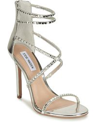 14a9807966d Steve Madden Bringit Strappy Heeled Sandals in Metallic - Lyst