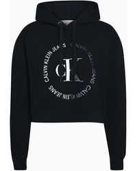 Calvin Klein Sweat-shirt J20J213470 BLOCKED HOOD - Noir
