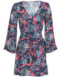 Roxy - Small Hours Printed Women's Dress In Blue - Lyst