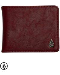 Volcom Slim Stone PU Wallet Porte-monnaie - Rouge