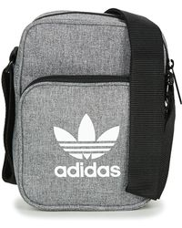 adidas - Mini Bag Casual Women s Pouch In Grey - Lyst eacbdddd04