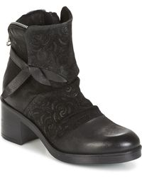 Dream in Green - Hinni Women's Low Ankle Boots In Black - Lyst