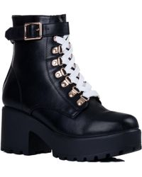 9db1bf74ff1 SPYLOVEBUY Hothead Women's Low Ankle Boots In Black in Black - Lyst