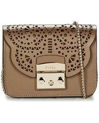 Furla | Metropolis Bolero Minicrossbody Women's Shoulder Bag In Gold | Lyst