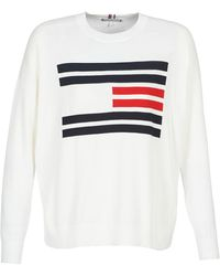 Tommy Hilfiger Trui Th Essential Flag Sweater - Wit