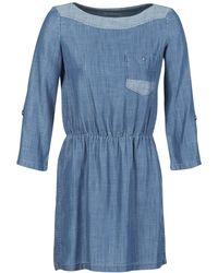 Esprit CHAVIOTA femmes Robe en bleu