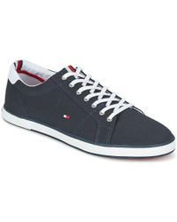 c84f841fa1b029 Tommy Hilfiger Mens Black Harlow 1d Trainers in Blue for Men - Lyst