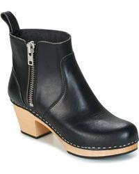 Swedish Hasbeens - Zip It Emy Women's Low Ankle Boots In Black - Lyst