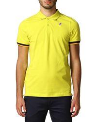 K-Way Vincent Contrast Stretch jaune Polo