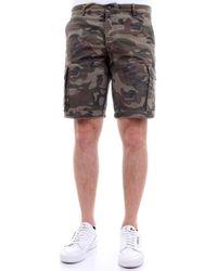 40weft NICK 5090 Bermudes Camouflage Short - Vert