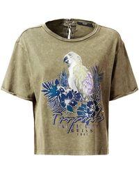 Guess - T-Shirt Femme Tropicali Tee Marron T-shirt - Lyst