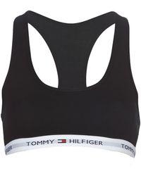Tommy Hilfiger Bralette Cotton Iconic-1387904878 - Zwart