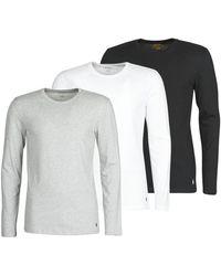 Polo Ralph Lauren T-shirt Lange Mouw Crew 3 Pack Crew Undershirt - Grijs