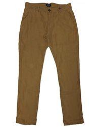 Teddy Smith WILL LINEN Pantalon - Marron