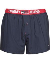 Tommy Hilfiger Mutande Uomo Woven Boxer - Blu