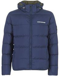 Calvin Klein Donsjas Hooded Down Puffer Jacket - Blauw