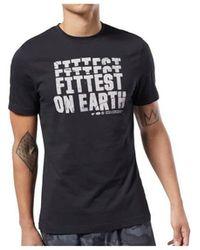 Reebok Crossfit Fittest ON Earth Tee T-shirt - Noir