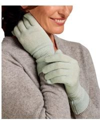 Woolovers Classic Cashmere Merino Gloves Gloves - Green