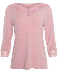 Lisca Pyjama's / Nachthemden Top Pyjamatop Met Driekwart Mouwen Isabelle - Roze