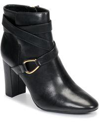 Lauren by Ralph Lauren Enkellaarzen Addington-boots-dress - Zwart