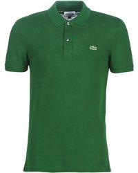 Lacoste Polo Shirt Korte Mouw Ph4012 Slim - Groen