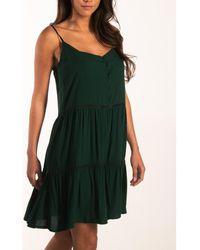 Beachlife Vestido Vestido verano con tirantes finos Ropa playa - Verde