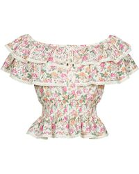 Guess SS NEW ISOTTA TOP Blouses - Rose