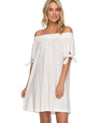 Roxy - Vestido Erjkd03161-wbt0 Blanco Women's Dress In White - Lyst