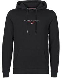 Tommy Hilfiger Sweater Essential Tommy Hoody - Zwart