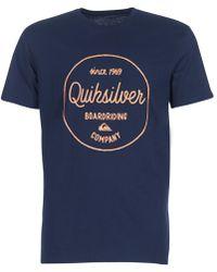 Quiksilver Clmornslides M Tees Byj1 T Shirt - Blue
