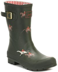 Joules Womens Olive Horse Molly Welly Boots femmes Bottes en vert