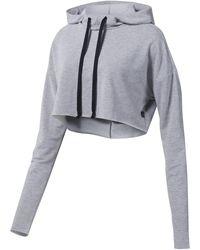 Reebok Sweater Dance Korte Hoodie - Grijs