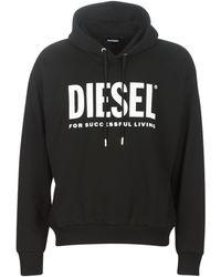 DIESEL Sweater S Division Logo - Zwart