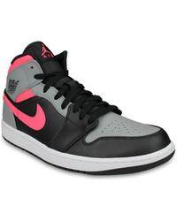 Nike Zapatillas altas Air Jordan 1 Mid Noir - Negro