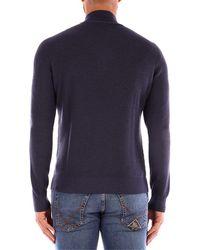 Gran Sasso Jersey HALF ZIP suéteres hombre azul