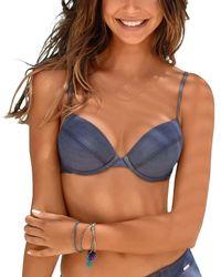Lascana Bikini Sunseeker Jeansblue Swimsuit Top - Blauw