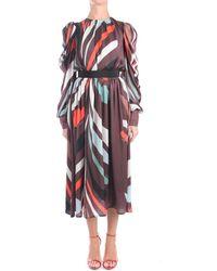 Marco Bologna NATTER Longue Femme Multicolore Robe - Rouge