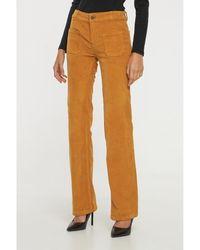 Best Mountain Pantalon Pantalon flare en velours côtelé - Neutre