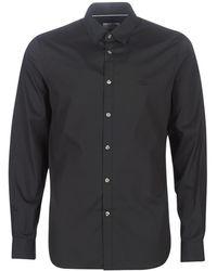 Lacoste Overhemd Lange Mouw Ch5366 Slim Fit - Zwart